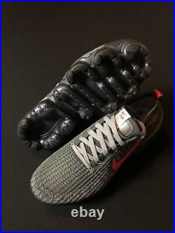 Nike Air Vapormax Flyknit 3 Grey Track Red CT1270-001 Mens Size 8
