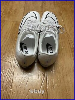 Nike Air Zoom Maxfly Proto Track Racing Spikes Mens 8 Womens 9.5 White Orange