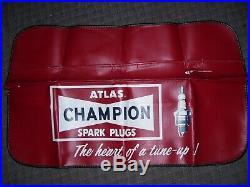 Original rare survivor 1960-70s Champion spark plug fender accessory Hot rod nos