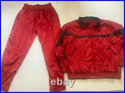 RARE Nike Air Jordan Mens XL Red track suit pants jacket Set Slick Satin j216
