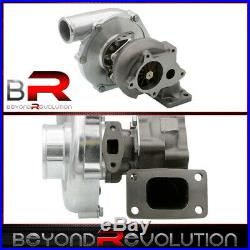 T3 T4 Ball Bearing T04E Turbo Charger Boost. 63 A/R Air Ratio Compressor 5-Bolt