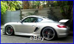 Track Version Carbon Fiber Side Air Vents Scoops for Porsche Cayman Boxster 987