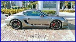 Track Version Fiberglass FRP Side Air Vents Scoop For Porsche Cayman Boxster 987