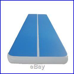 US 6X20Ft Inflatable Tumbling Yoga Mat Air Track Gymnastics Training Pad + Pump