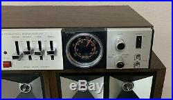 VINTAGE Electrophonic 8 Track AM FM Radio Air Suspension Speakers NICE Details