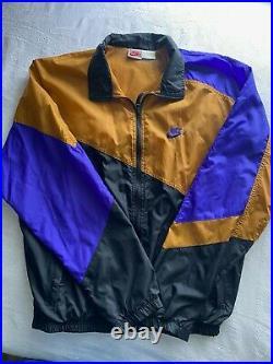 VTG NIKE Air GRAY TAG track suit Set Windbreaker JORDAN Lakers Mens M SWOOSH Air