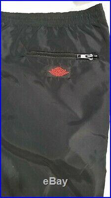 Vtg 1985 Nike Air Jordan Wings Black/red Track Athletic Pants L Bred Windbreaker
